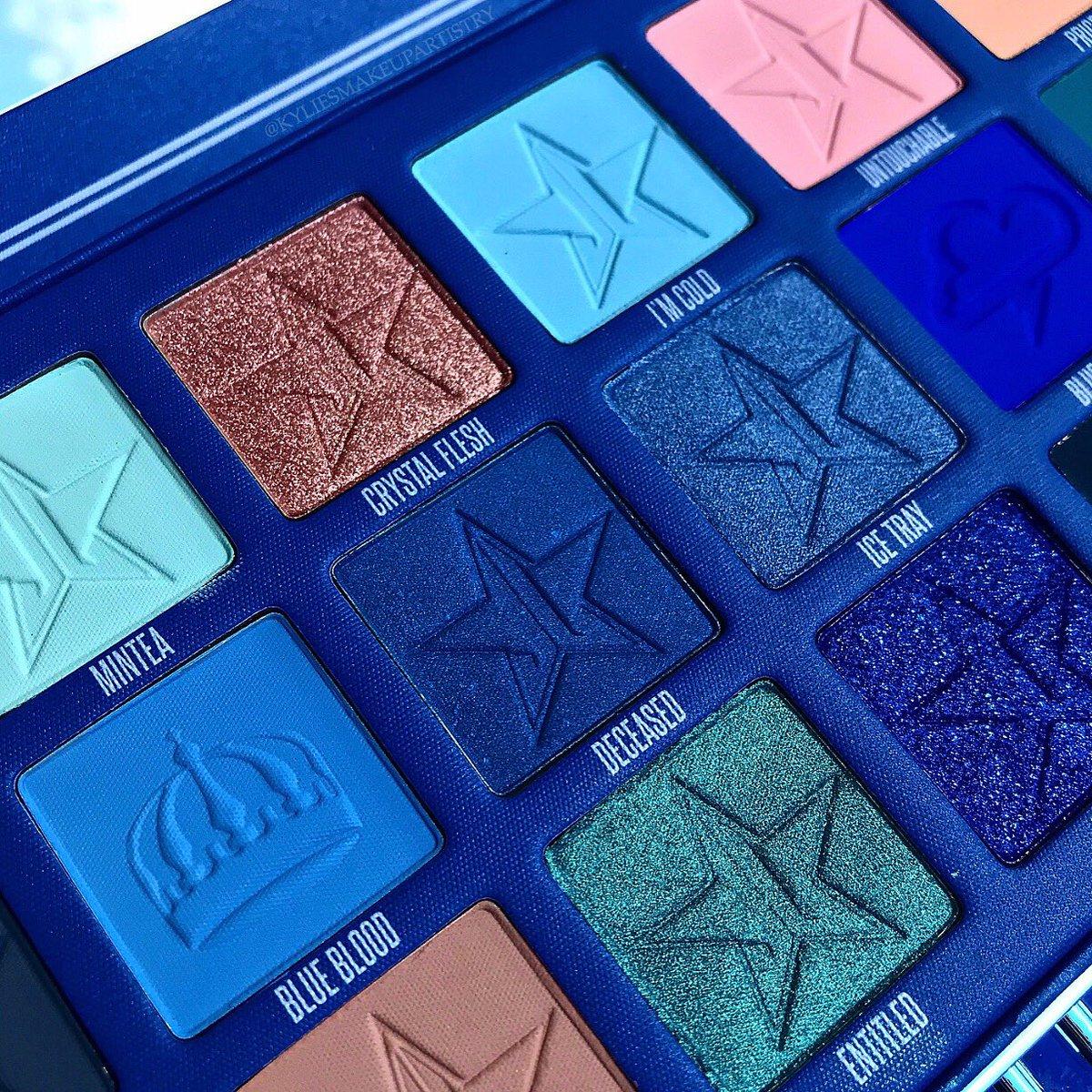 Such a beautiful palette  @JeffreeStar  #JeffreeStarCosmetics #BlueBlood <br>http://pic.twitter.com/DZYRMyLyOS