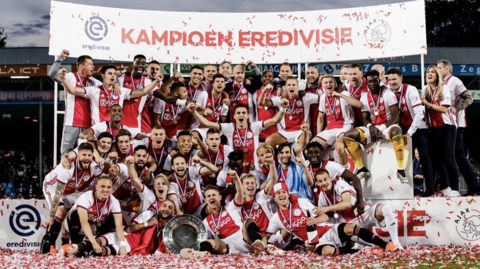 El Ajax conquistó su título de liga número 34 http://bit.ly/2JncJMs