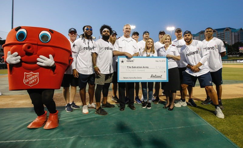 The #ReliantDerby results are in…we raised over $100,000 with the @dallascowboys and #Dallas media partners to benefit @SalArmyDFW and other DFW nonprofits. Thanks to the Dallas Cowboys, Coach Garrett and the fans for helping us #PowerItFoward for the community! #ReliantGives