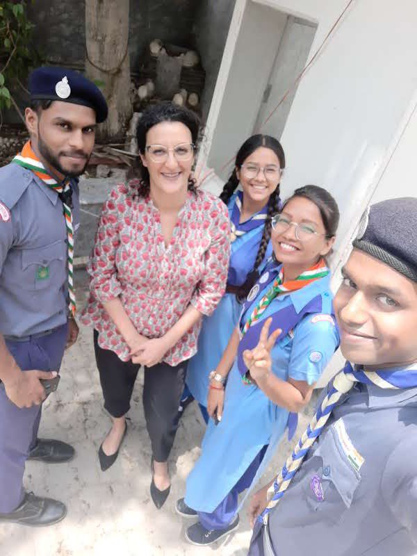 Here's to the amazing team of @bsgnhq 🙂It was a great pleasure meeting them with the #Israeli #Scouts & #Guides! I hope we have many more collaborations in the future #Delhi #BePrepared #Scouting #ThursdayMotivation @IsraelinIndia @Avigailcjm