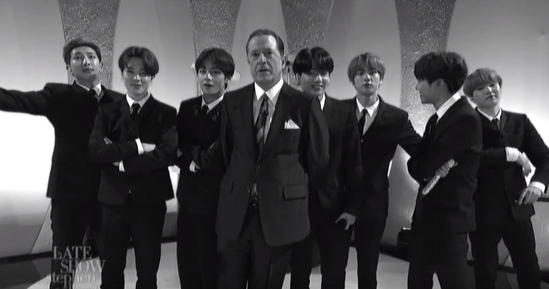 BTS channel The Beatles in a special performance for 'The Late Show' https://trib.al/39TNu5V