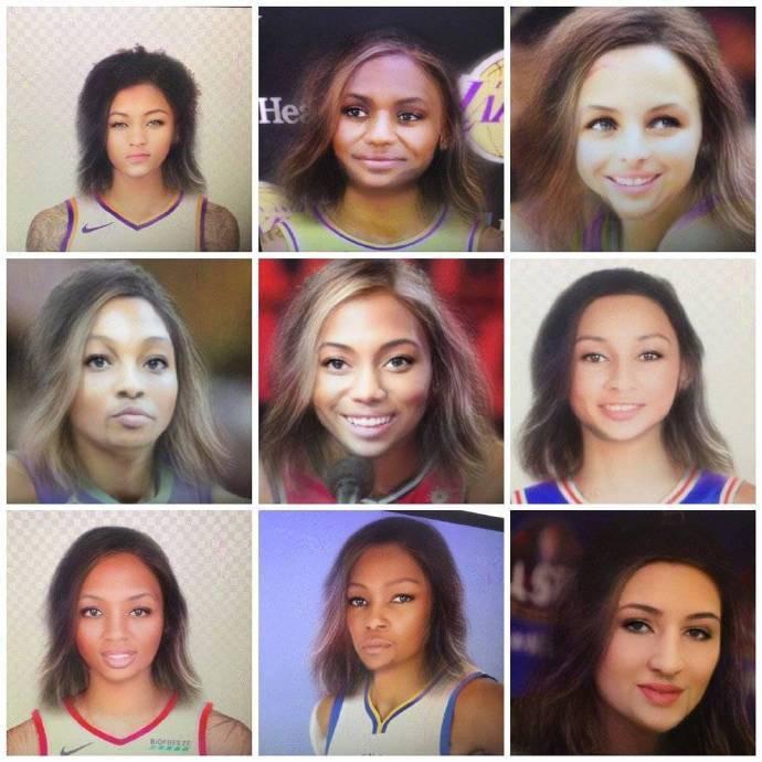 當球員都變成女星臉的时候:柯瑞如女星,K湯如貴婦,而詹姆斯多了一分羞澀!-籃球圈