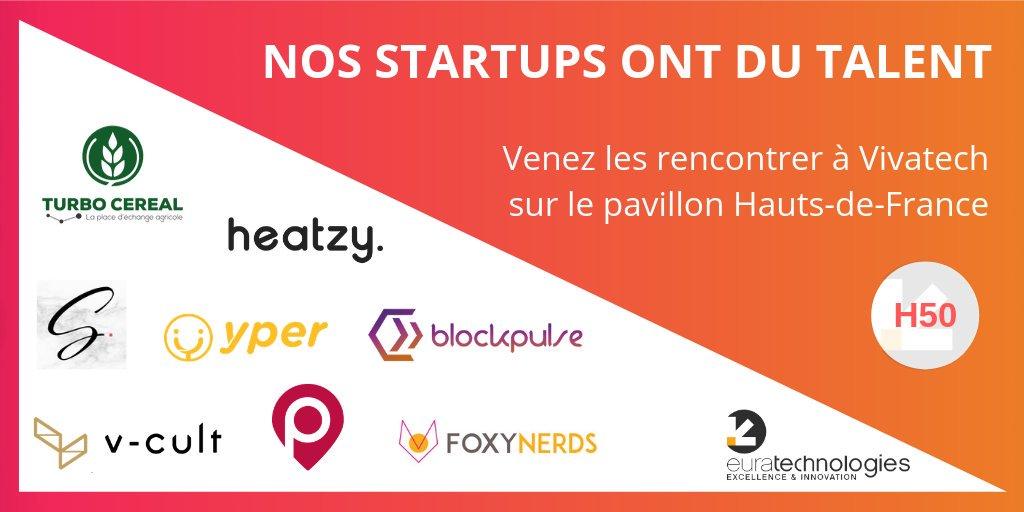 🚀Nos #startups ont du talent !  Sur notre pavillon H50 et sur tout le salon, découvrez les pépites d'#EuraTechnologies à #VivaTech !  Tout de suite un thread-recap !  ⬇️⬇️⬇️