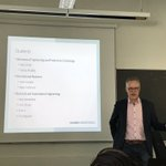 Image for the Tweet beginning: KONE seminar starting with student