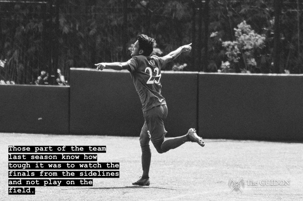 The Ateneo Men's Football Team will fight to bring the championship back home! #OneBigFight 💙🏆 ADMU vs. DLSU 4:30pm, TODAY Rizal Memorial Thanks for the quote, Julian! 🦅