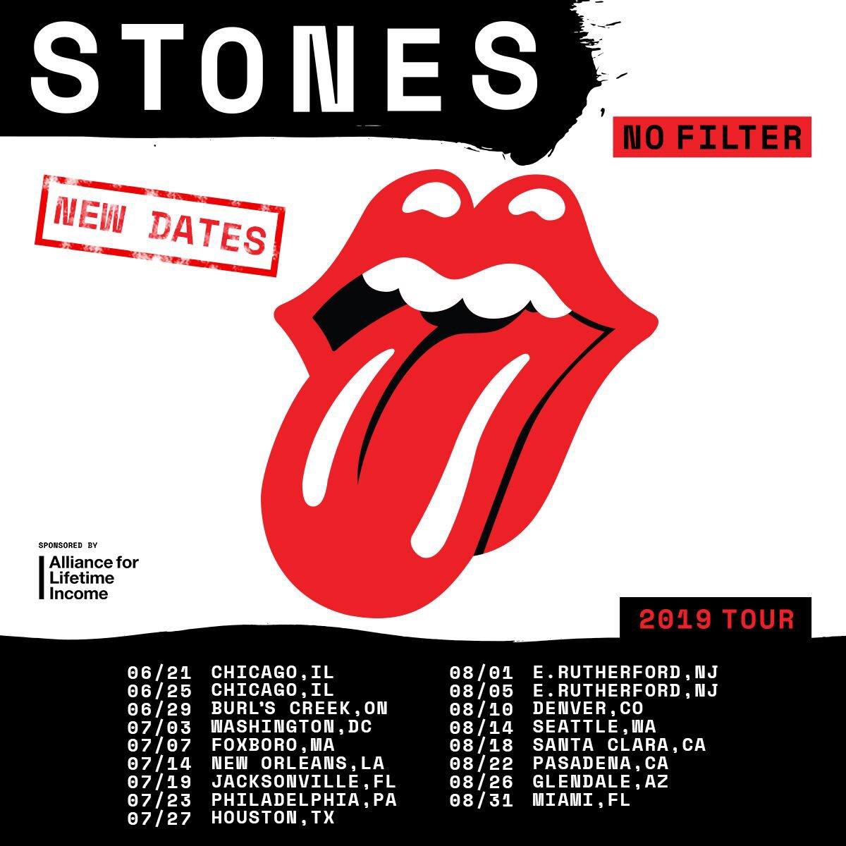 Bildergebnis für fotos von der no filter usa tour 2019 der rolling stones