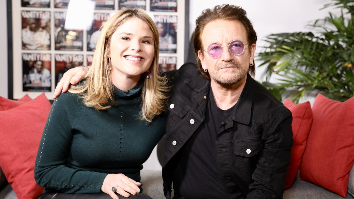 .@JennaBushHager sits down with Bono to chat all things books! She also shares the sweet book he sent her daughter when she was born and the note that made her cry.