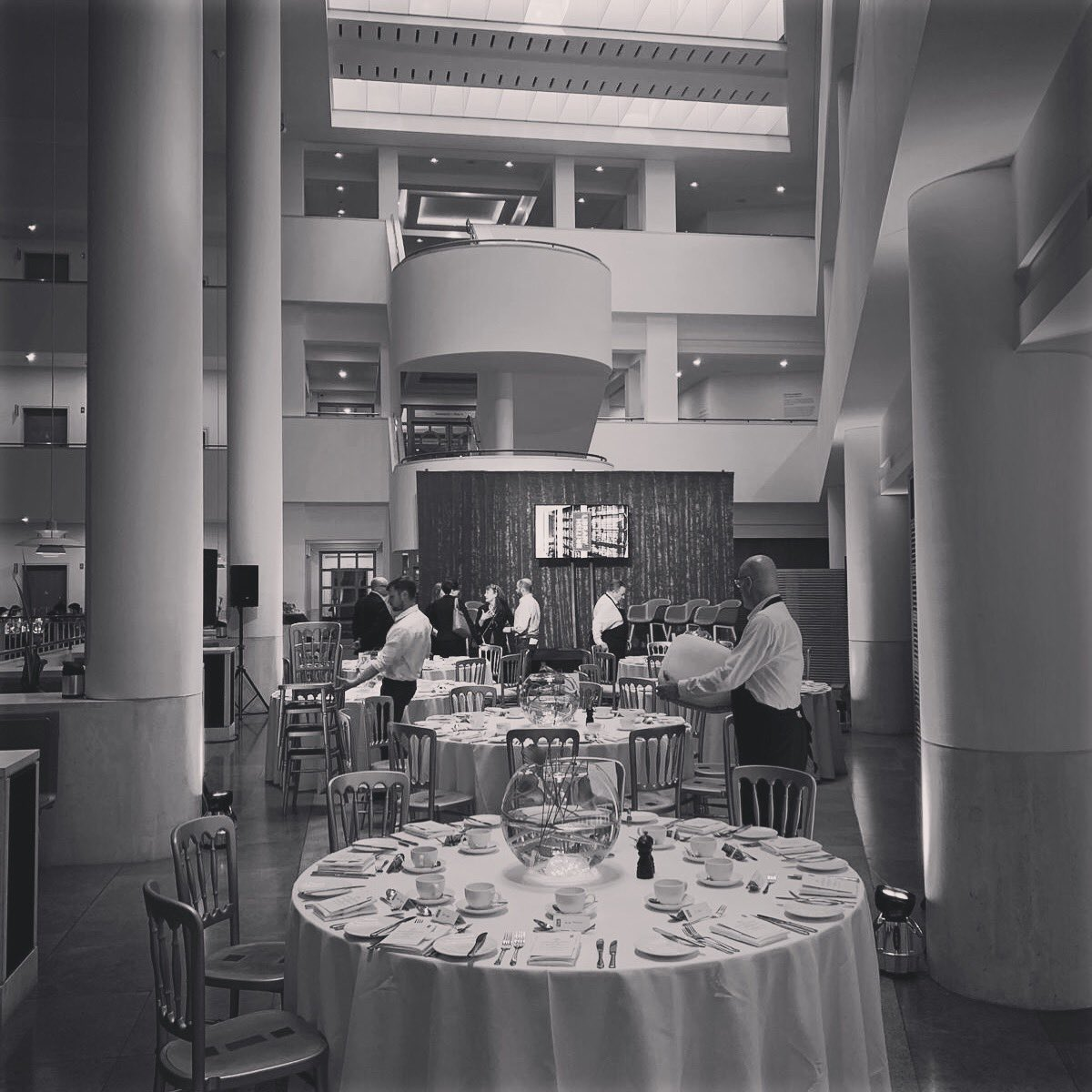Pre-event shot from last night's event @britishlibrary #EOL #London #Britishlibrary #eventprofs #eventporduction #preevent