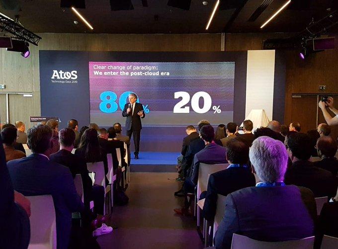 Live von den @Atos #TechDays: Unser CEO @ThierryBreton enthüllt die