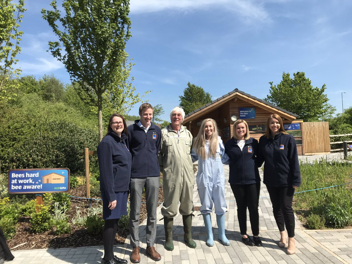 On Monday we welcomed our new British Black Bee colony into the @AldiUK Bee Hotel 🐝 Thank you to Buckleys Bees! We are all very proud to be supporting British Bees to thrive!  #everydayamazing #AldiCR