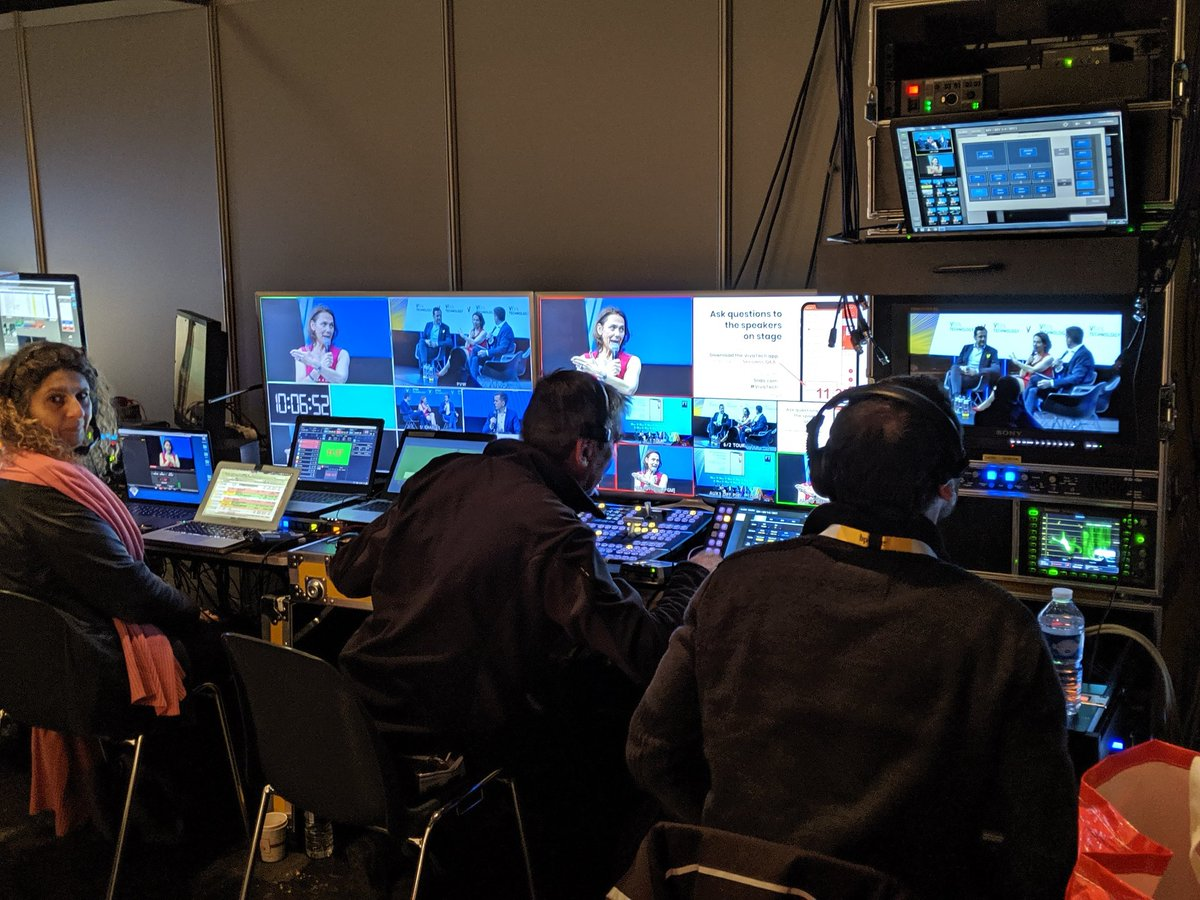 #BehindTheScenes @vivatech #CEOForum stage we have an army of #light #sound #video and #camera engineers to keep this packed agenda flowing.