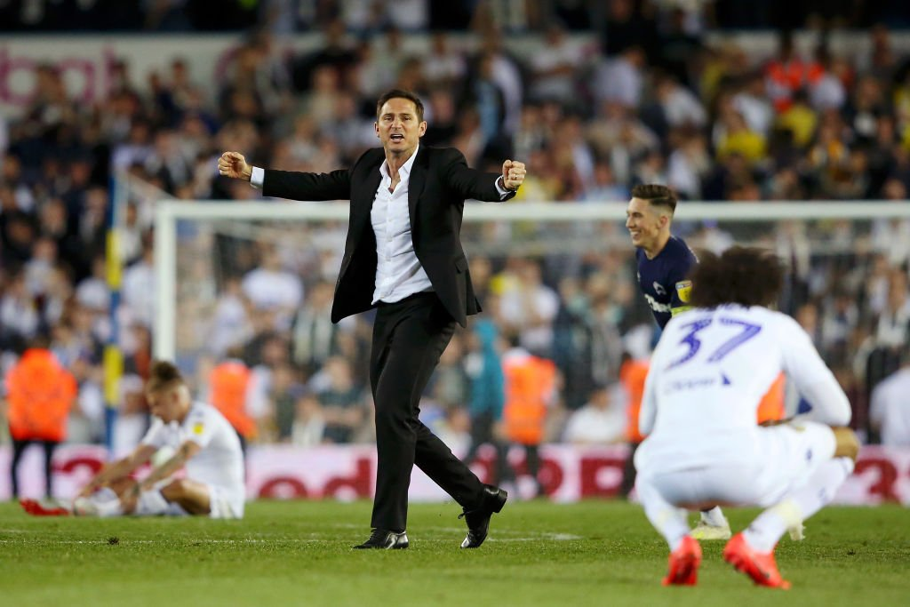 """""""In terms of personal achievement, the feeling is as much as I've had in football.""""Frank Lampard says Derby's win over Leeds ranks among his career highlights.Read http://bit.ly/2HsrASh #DCFC"""