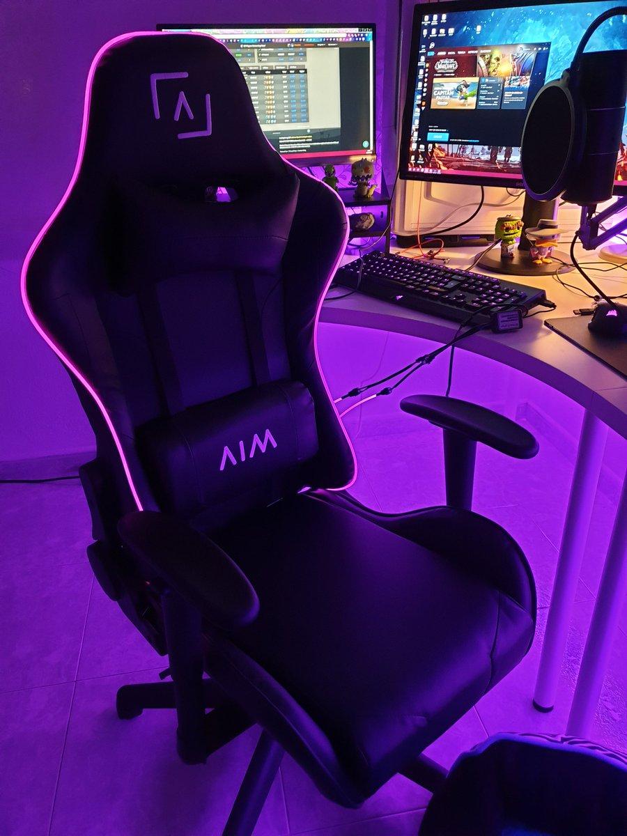 Tu setup gaming se iluminará como sacado de un sueño con la silla AIM 🌟 http://aimgaming.eu