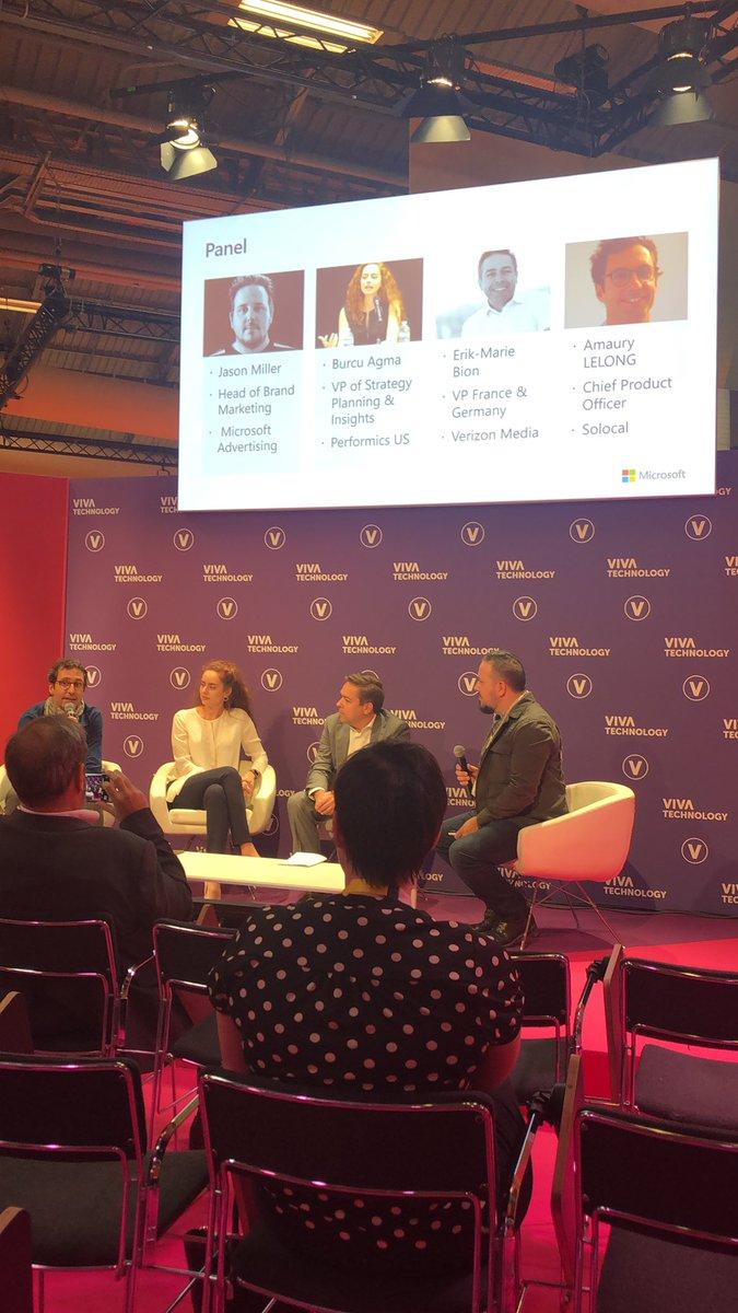test Twitter Media - @BurcuAgma @JasonMillerCA @erikmariebion et Amaury Lelong présents à la table ronde organisée par @MSFTAdvertising à #VivaTech @performics https://t.co/zIeI1G4acz
