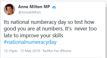 numberacy typo from MP