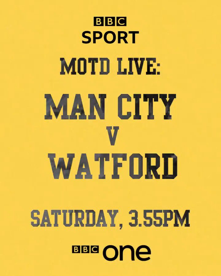 Man City bidding to become the first club to win the domestic treble Watford in their first FA Cup final for 35 years What a match in prospect!It's On The Line at the #FACupFinal this Saturday on @BBCOne#bbcfacup #mcfc #watfordfc