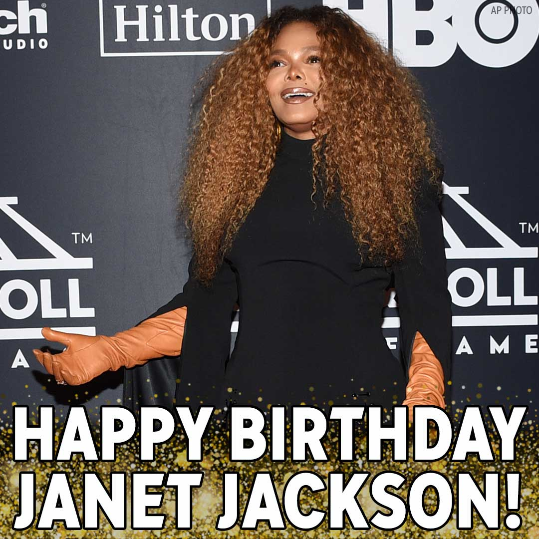 Happy Birthday, Janet Jackson! We hope the pop superstar has a great day!