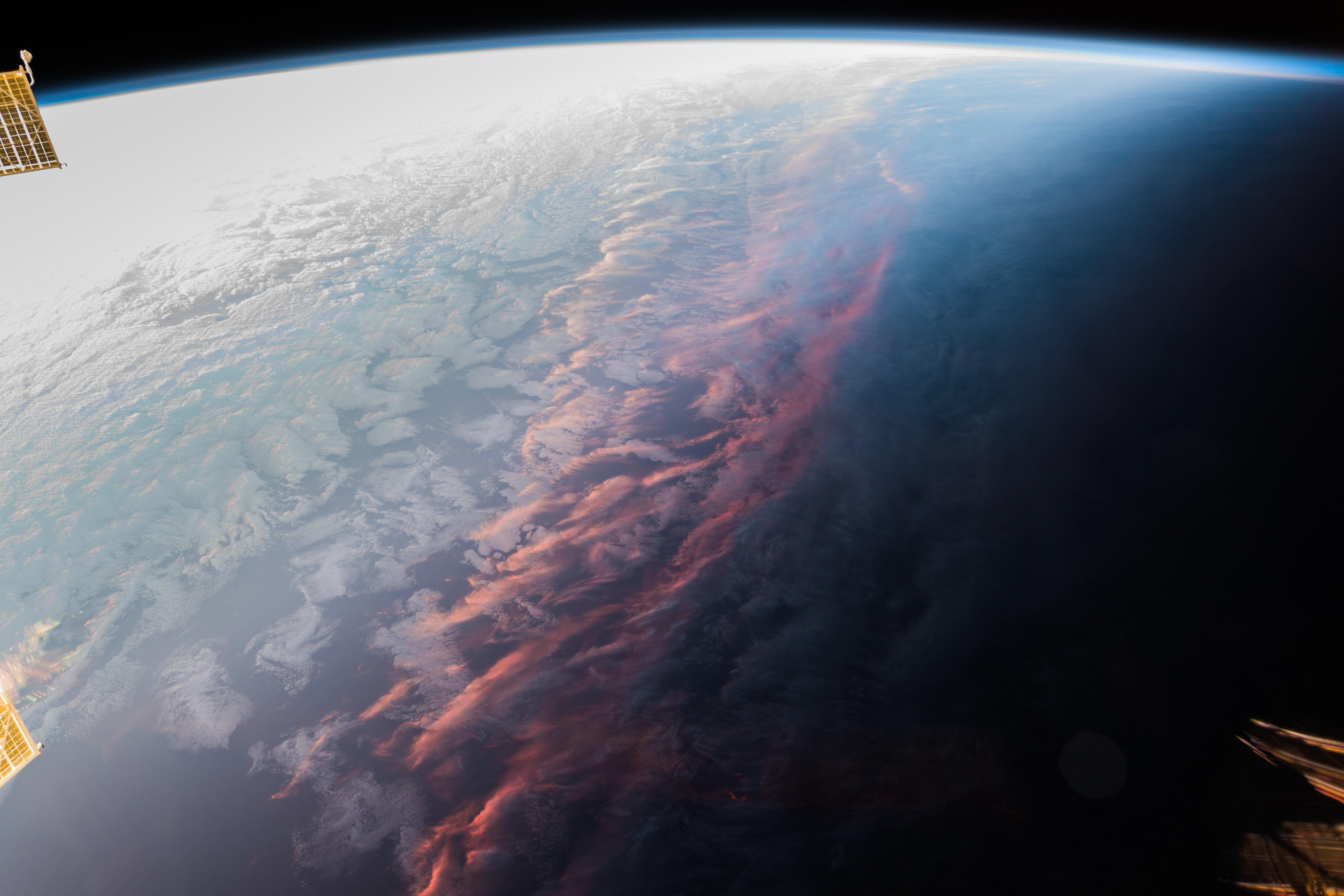 The sunset From ISS