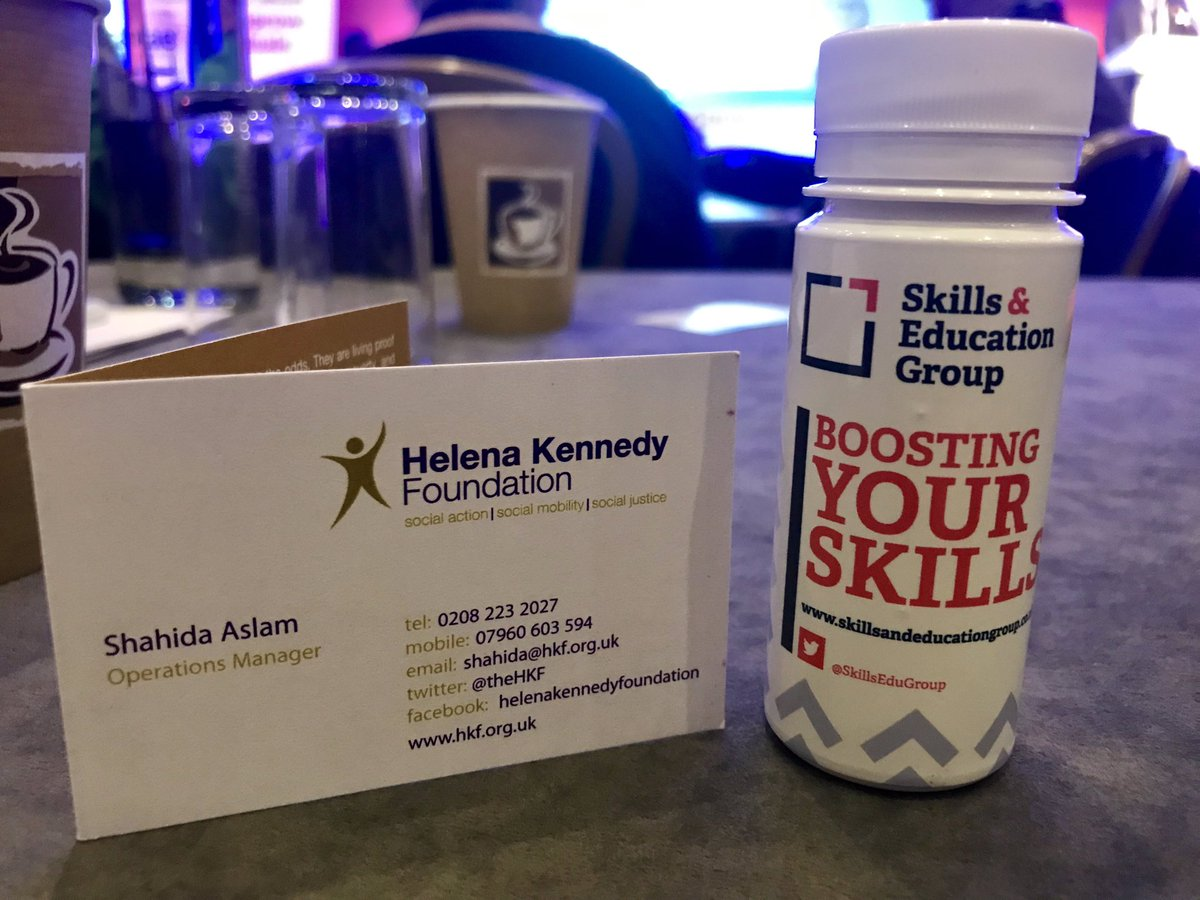 @TheHKF and @SkillsEduGroup tackle #socialmobility together! I'm thrilled to be here representing the work we do in changing the landscape at @AbbotsLeaSchool, whilst supporting the charity that gave me the very opportunity to be where I am today. #learningworked #SEG2019