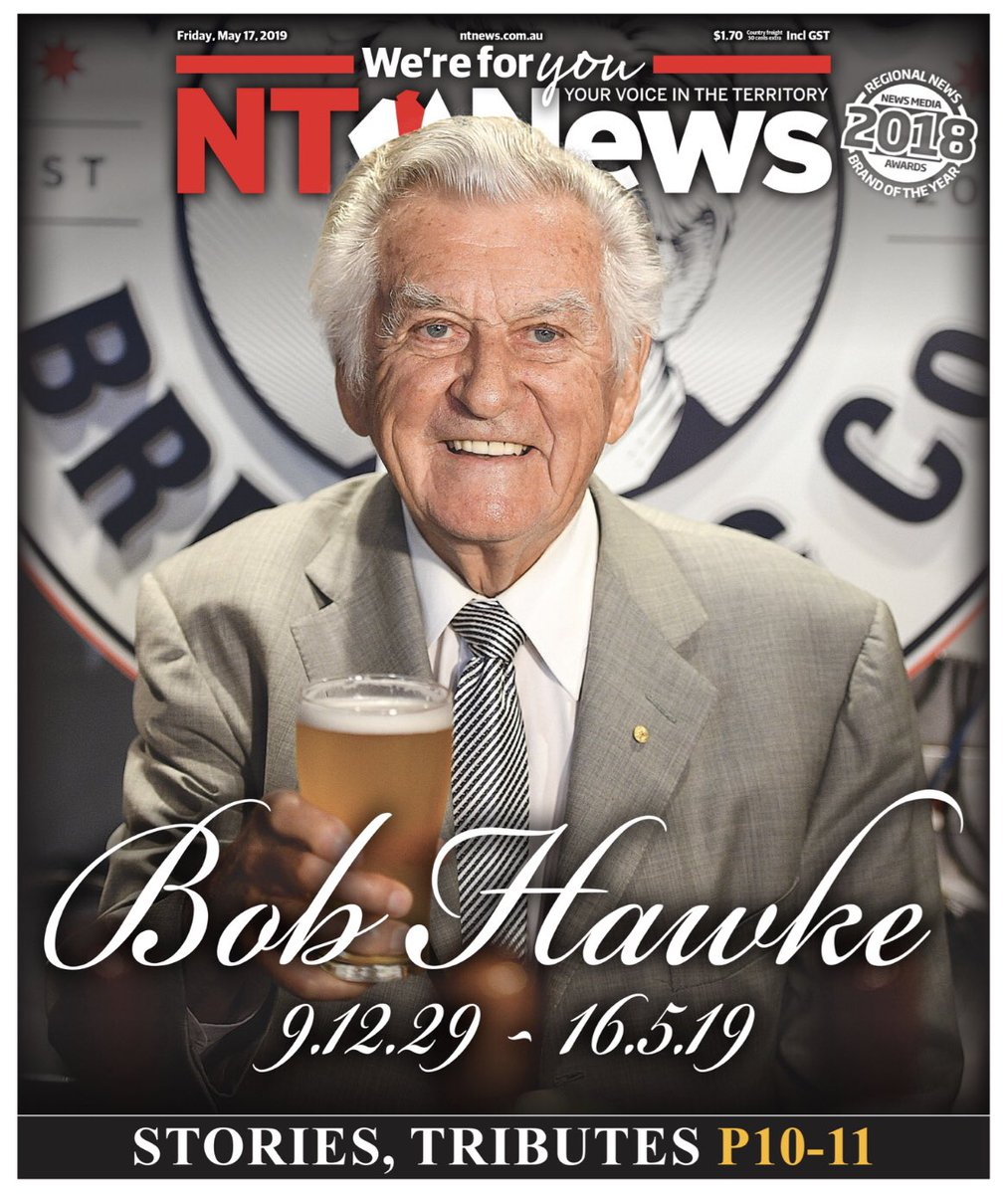 The NT News  TOMORROW'S FRONT PAGE