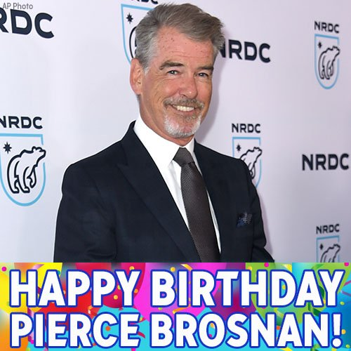 Happy Birthday to former James Bond, Pierce Brosnan!