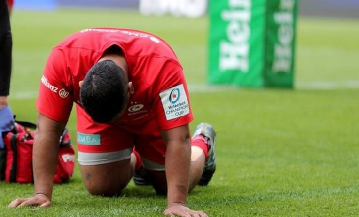Saracens and England prop Mako Vunipola will miss the rest of Saracens' pursuit of another Premiership title after suffering a hamstring injury.More here: https://bbc.in/30nmhMD#bbcrugby