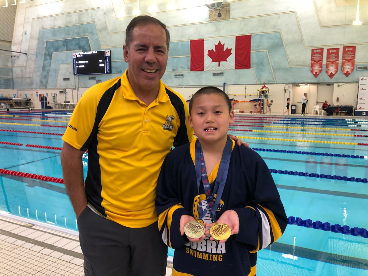 Medal Alert! Jack Wang 10, is the 2019 Top Cup Champion/ Gold Medalist in the 50 & 100 m Back, 100 m Breast, Silver Medalist in the 200 m IM, 50 m Breast & 50 m Fly, Bronze Medalist in the 100 m Fly, and 50 m Back LC events. #cobrapride #50yearsofexcellence #brampton #swimming