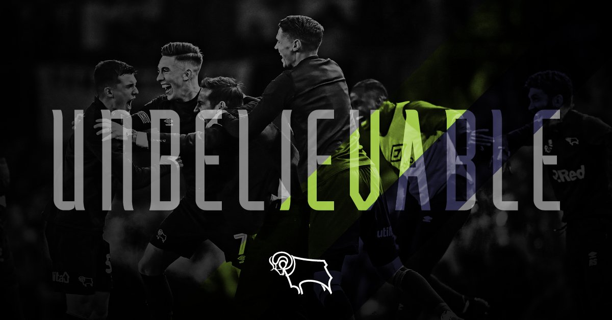 The first team to progress to the Championship Play-Off Final having lost the first leg of the semi-final at home. 🖤