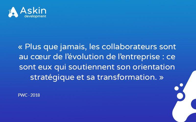 """[Le saviez-vous ?]  #Digitalisation 🚀 #TeamWork 👊 """"Plus que jamais, les collaborateurs sont au cœur de l'évolution de l'entreprise : ce sont eux qui soutiennent son orientation stratégique et sa transformation."""" 👉 https://bit.ly/2xGJfla"""
