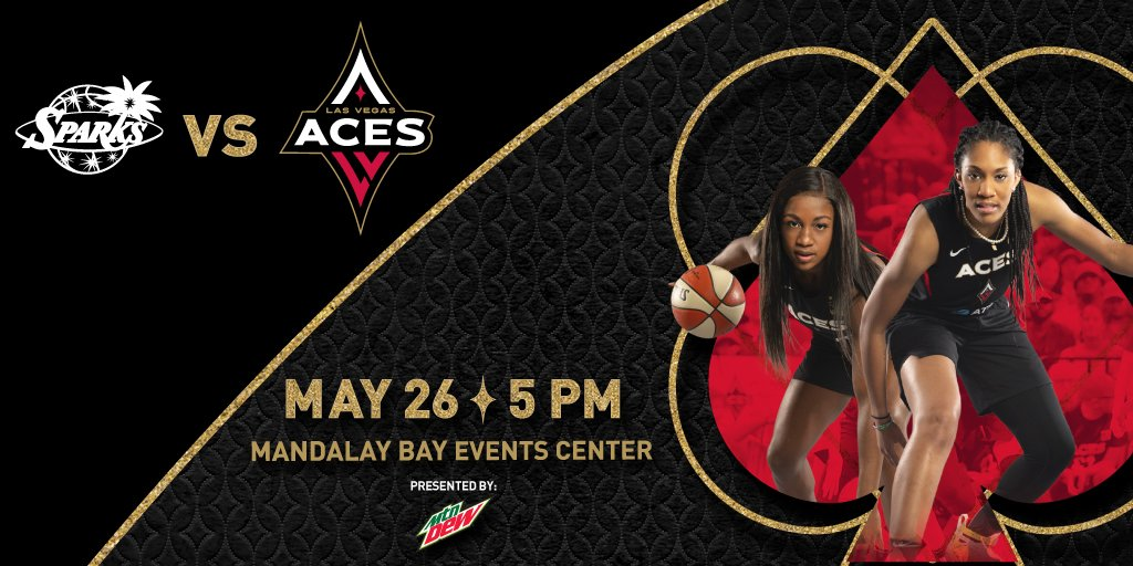 Sin City vs. the City of Angels 😏 The 2019 season tips off May 26 at The House.  🎟 https://t.co/YB8RZIjca0 ☎️ 702-692-ACES #DoubleDown ♦️♠️ https://t.co/MRkVSlc2GY