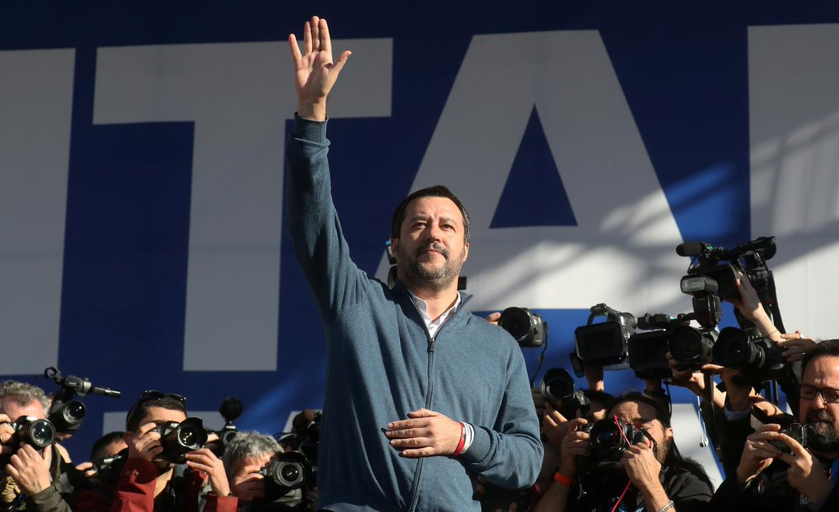 "Italy Deputy PM Matteo Salvini is hoping to change the EU from the inside via the May 26 European Parliament elections by making ""sovereigntists"" the largest political force within the next Parliament.  Italians are trending #SalviniNonMollare, which means ""Salvini don't give up"""