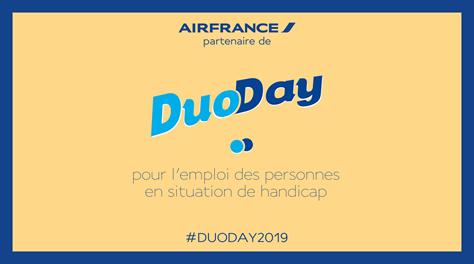 [#DuoDay2019] #AirFrance s'engage pour l'emploi des personnes handicapées. Aujourd'hui via l'opération DuoDay, 20 personnes en situation de handicap viennent découvrir nos métiers. Plus d'infos 👉 http://bit.ly/2JHorRj