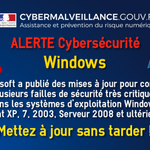 Image for the Tweet beginning: 🔴⚠️[#Alerte] #Cybersécurité : #Microsoft a