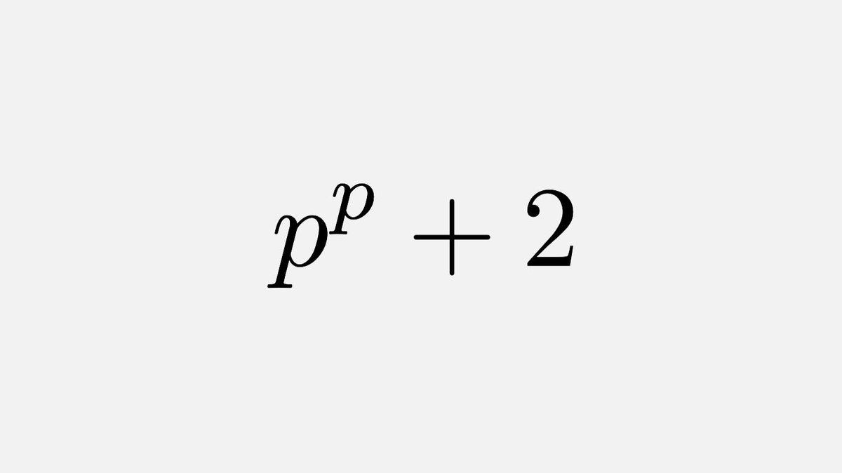 Here's a challenge: can you find a prime of the form pᵖ+2 where p is prime, apart from 29?