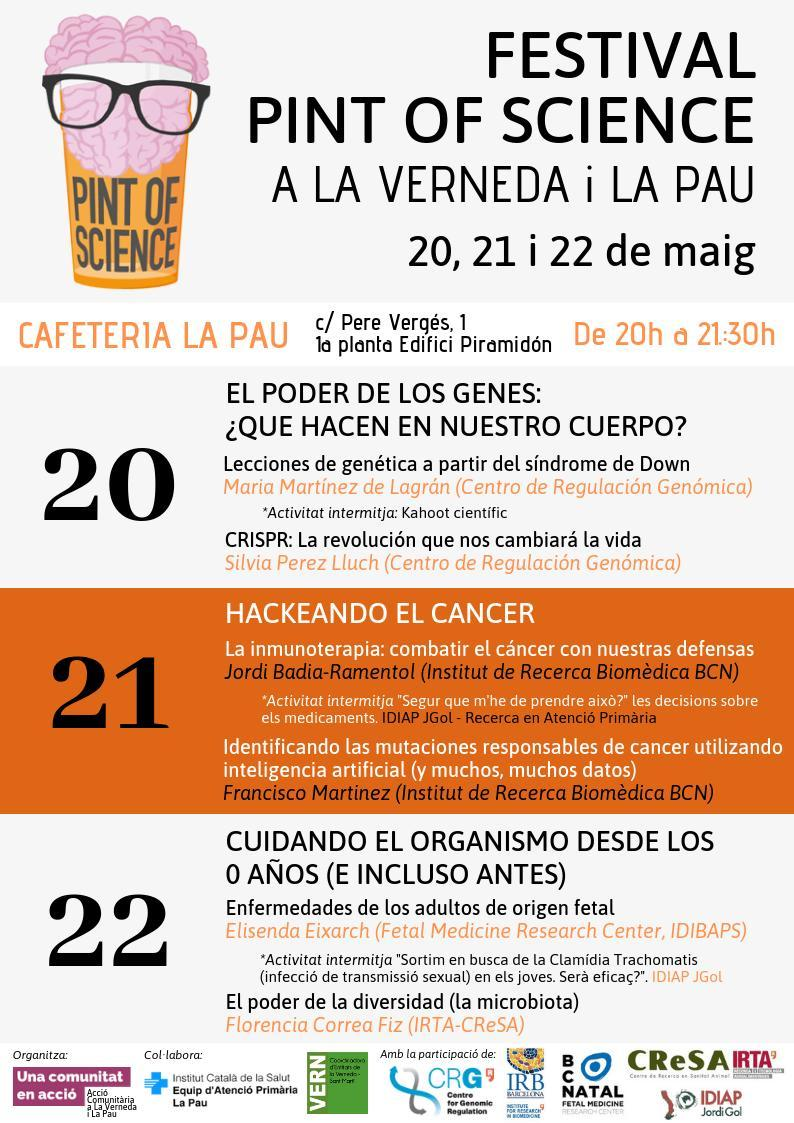 Next week Francisco Martínez-Jimenez @fran_mj88 is participating at @pintofscienceES. A very interesting festival where you can enjoy science and beers. Don't miss the opportunity if you are in Barcelona!