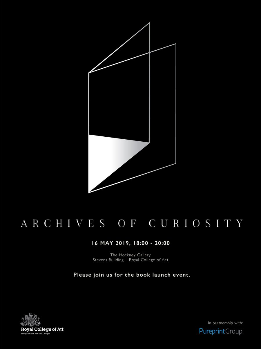 We're excited! Students from the MResRCA Communication Design Pathway are launching their new book project - 'Archives of Curiosity' tonight! Please join us for a cup of tea and a good read. @RCA @ratwoman @RCAvisualcomm @RCAanimation @RCAIED @tealtweets https://t.co/t714sBsMXM