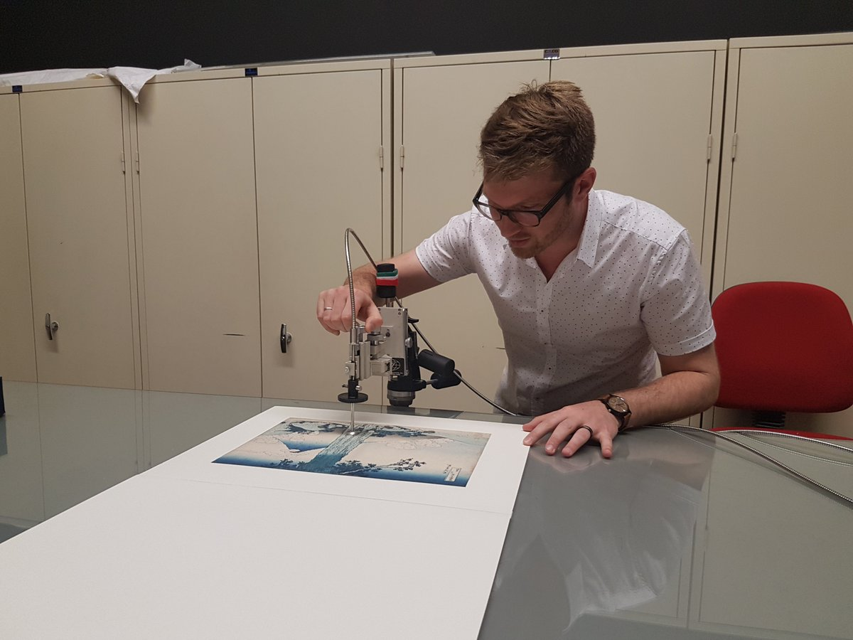 This analysis makes it possible to examine the composition of the colour of each print.   The same research was done earlier on prints from the same series, owned by @V_and_A in London and @metmuseum in New York.  #MuseumWeek #RainbowMW