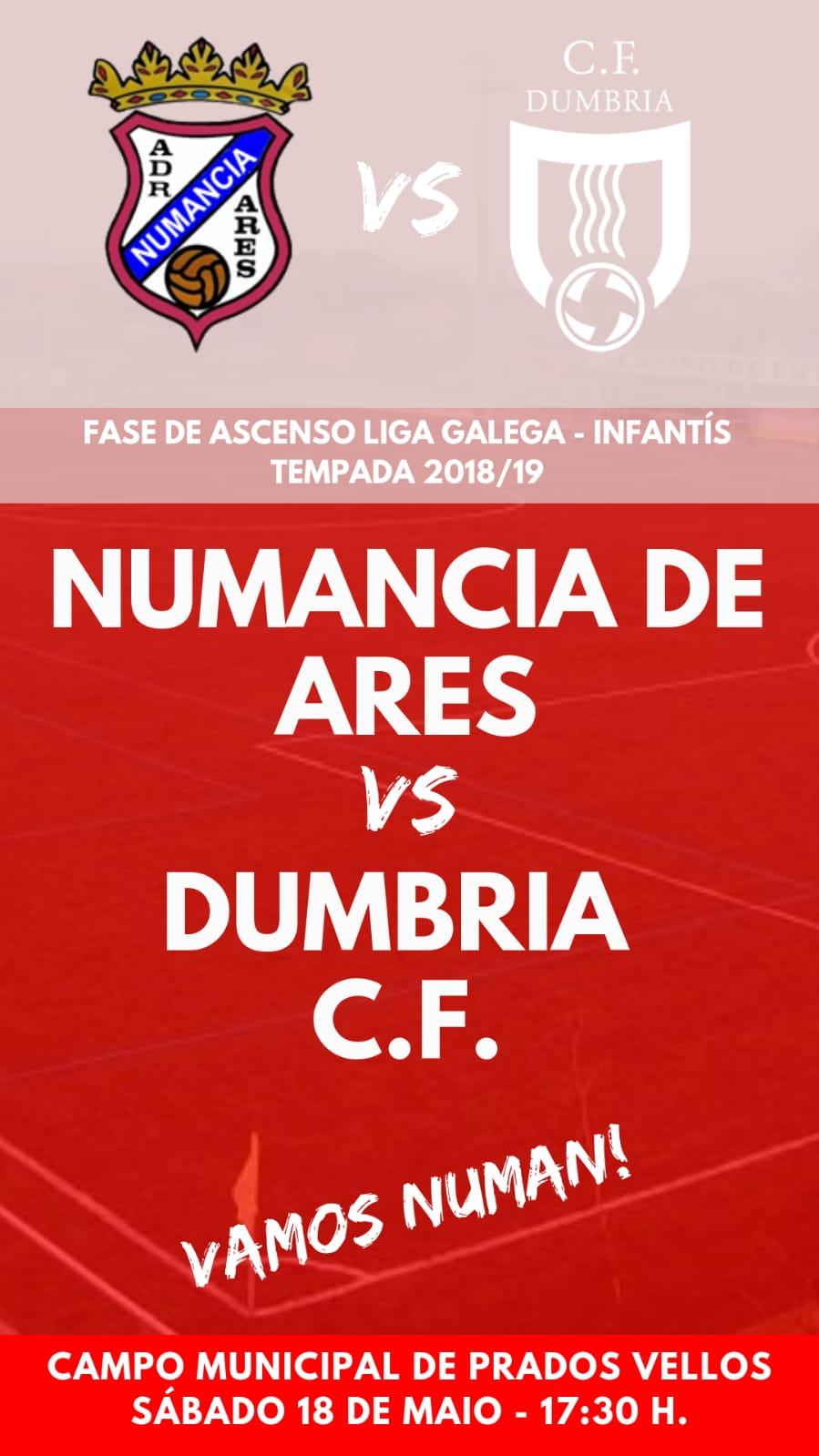 ADR Numancia de Ares. Fase de Ascenso Liga Gallega de Infantiles temporada 2018-2019.