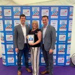 Dan Spencer, Paula Smith and Martin Foster at the Sunday Times @VirginAtlantic #FastTrack100 awards event in Oxfordshire, collecting our 'Ones to Watch' Plaque!  #TeamTorsion