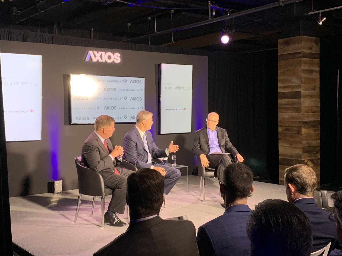 Mayor @marty_walsh and I joined @mikeallen of @axios for a conversation on infrastructure this morning. We're in Washington, DC for #InfrastructureWeek meeting with federal leaders and urging them to invest in infrastructure needs - it's a win for everyone. #Axios360