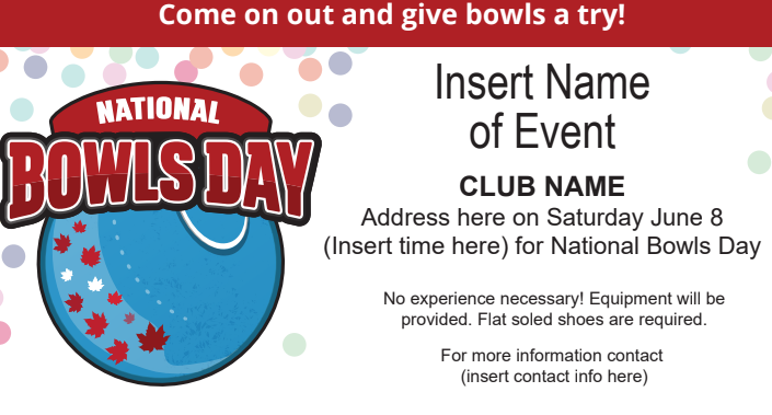 Promote Promote Promote, National Bowls day is meant to get as many people coming out and enjoying the sport of Lawn Bowls. Here&#39;s a sneak peek of the newspaper ad that you can customize to fit YOUR event! <br>http://pic.twitter.com/Z9U8nbscwp