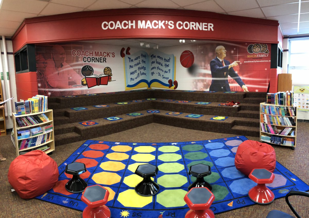 This is awesome! Take a look at Chris Mack's Corner at Crums Lane Elementary School! 📚