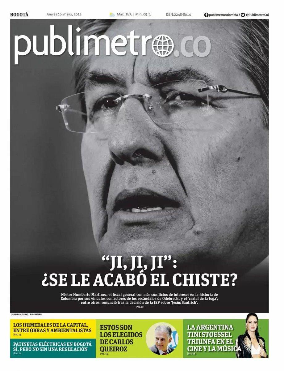 Gran portada de @PublimetroCol #LaRenunciaDelFiscal