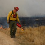 Image for the Tweet beginning: Prescribed burn today in the