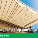 Install awnings on windows to create shade and reduce heat gain. 🕶 #EnergyTip