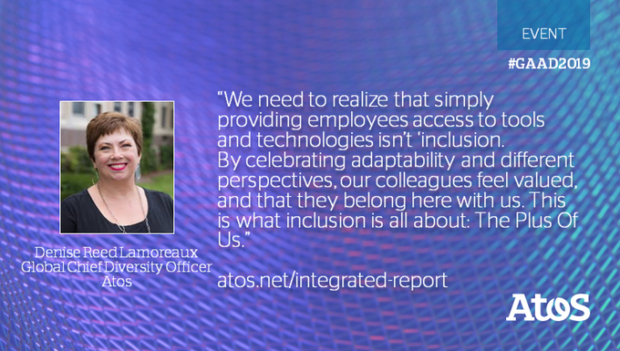 [#GAAD2019] Educating our employees on #accessibility and #inclusion is foundational to Atos...