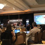 Image for the Tweet beginning: At #DIgiMarcon with Derek Lackey