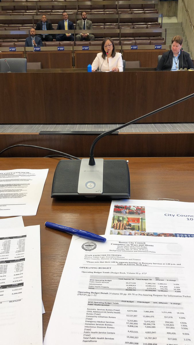 At the Council's Ways & Means budget hearing on @HealthyBoston  with @MarkCiommo, @AnnissaForBos, @Kim_Janey, @CampbellforD4, @wutrain, @joshzakim, @EdforBoston. #bospoli #mapoli