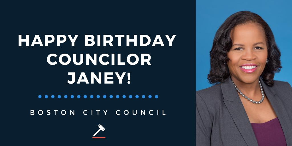 Hey #Boston!  Please join us in wishing Councilor @Kim_Janey a very Happy Birthday! 🎂
