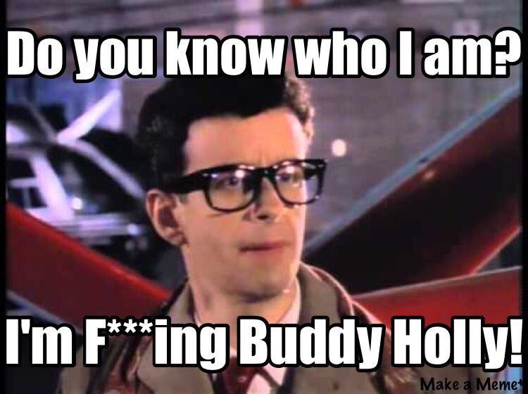 Happy birthday @kevinthekith do you know who he is? He's buddy f***in' holly that's who. @KITHOnline